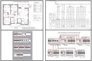 Разработка и составление планов электропроводки, создание однолинейных схем электрощитов.