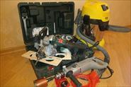 Оборудование для резки штроб и сверления отверстий для подрозетные коробок.