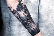 Татуировка черно-белая