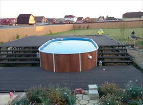 Расчёт и изготовление подиумов для бассейна (металлоконструкция) + ДПК