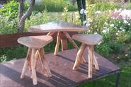 изготовление столика и табуреток