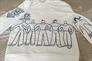 Вышивка рисунка нитками мулине