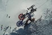 Аэросъемка горнолыжного курорта Гудаури. Грузия
