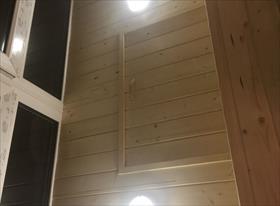 Утепление и обшивка балкона, с монтажом люка в потолке
