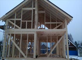 Строительство каркасного дома 6х9
