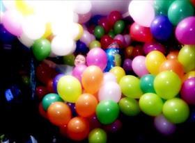 Гелиевые шары и фонтаны