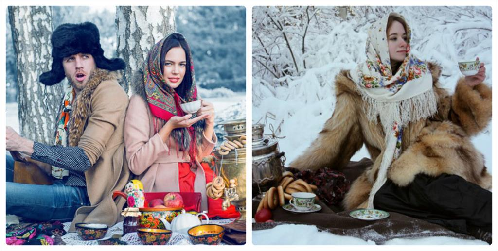 фотосессия в лесу зимой в платье