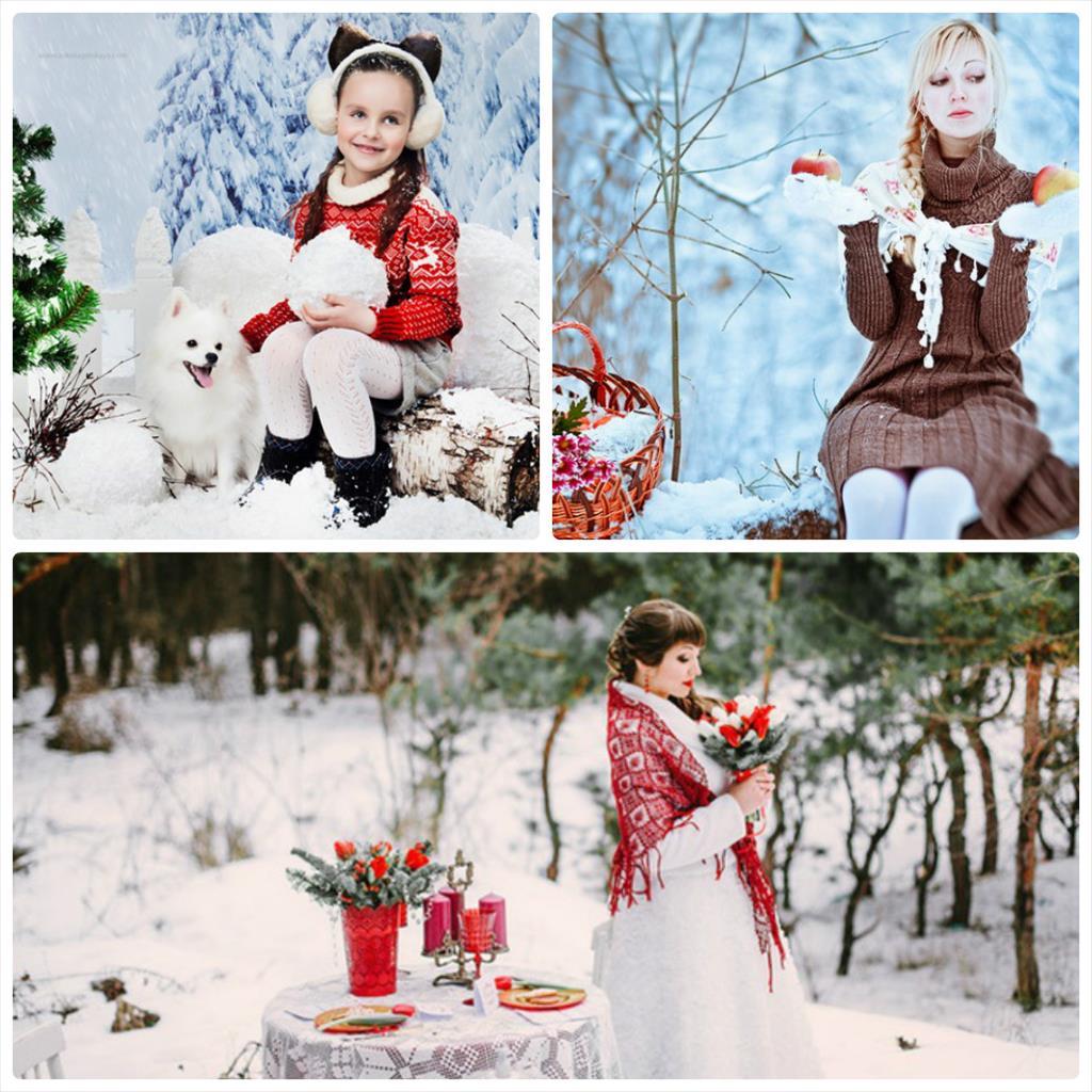 фотосессии зимой идеи