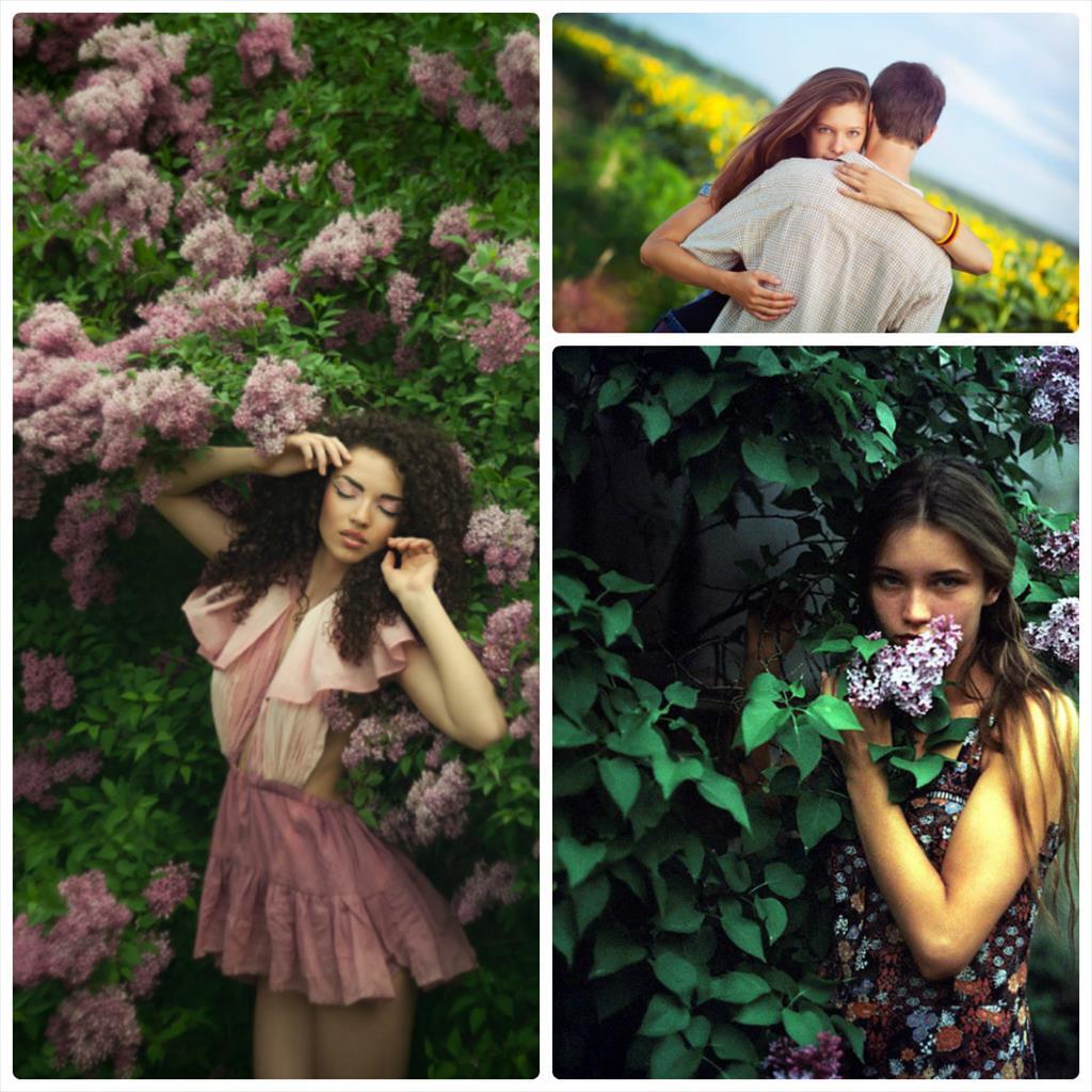 фотосессия весной на природе идеи