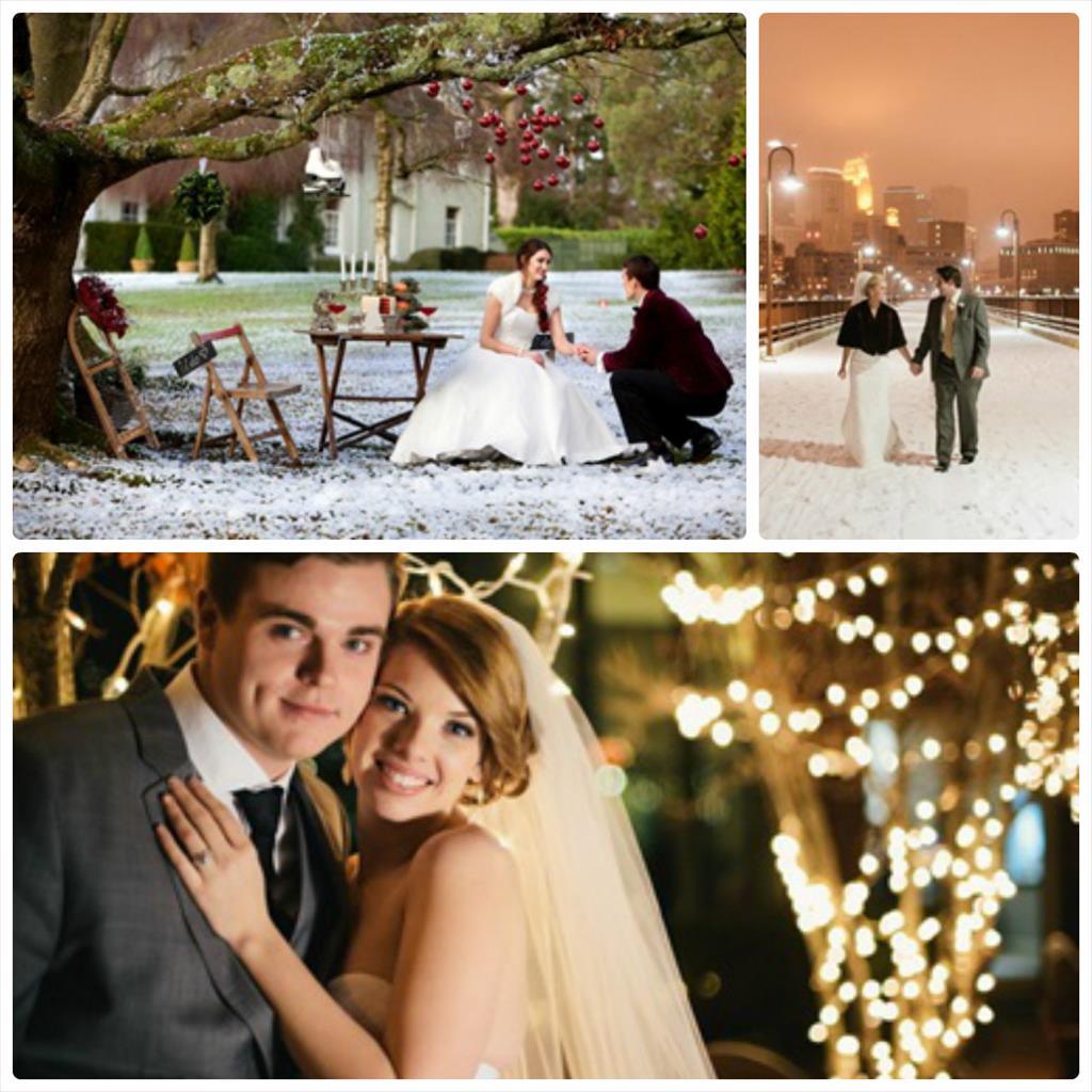 фотосессия свадебная зимой
