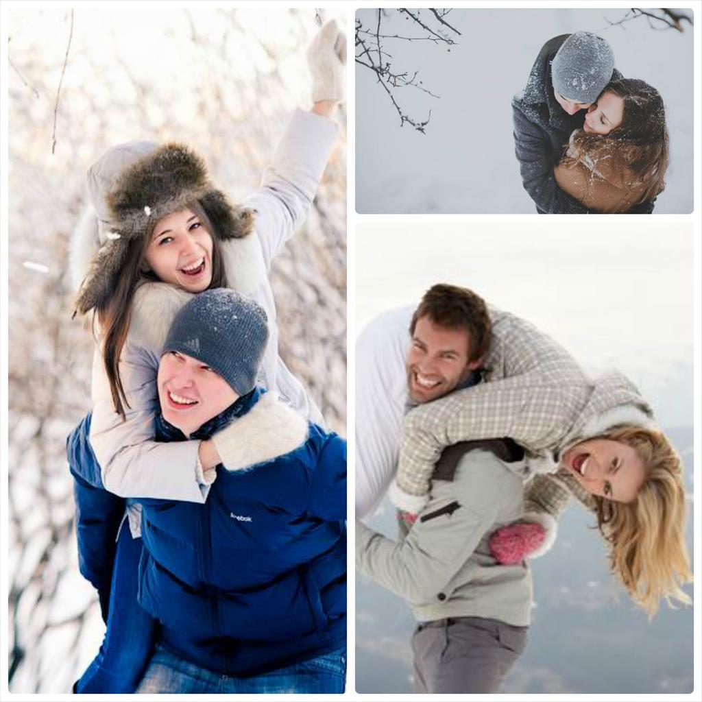 зимой фотосессии идеи