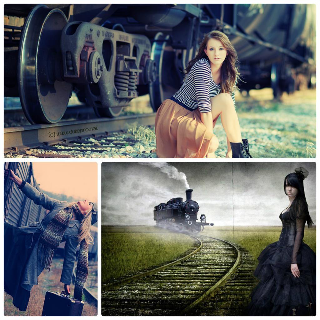 фотосессия на железной дороге фото