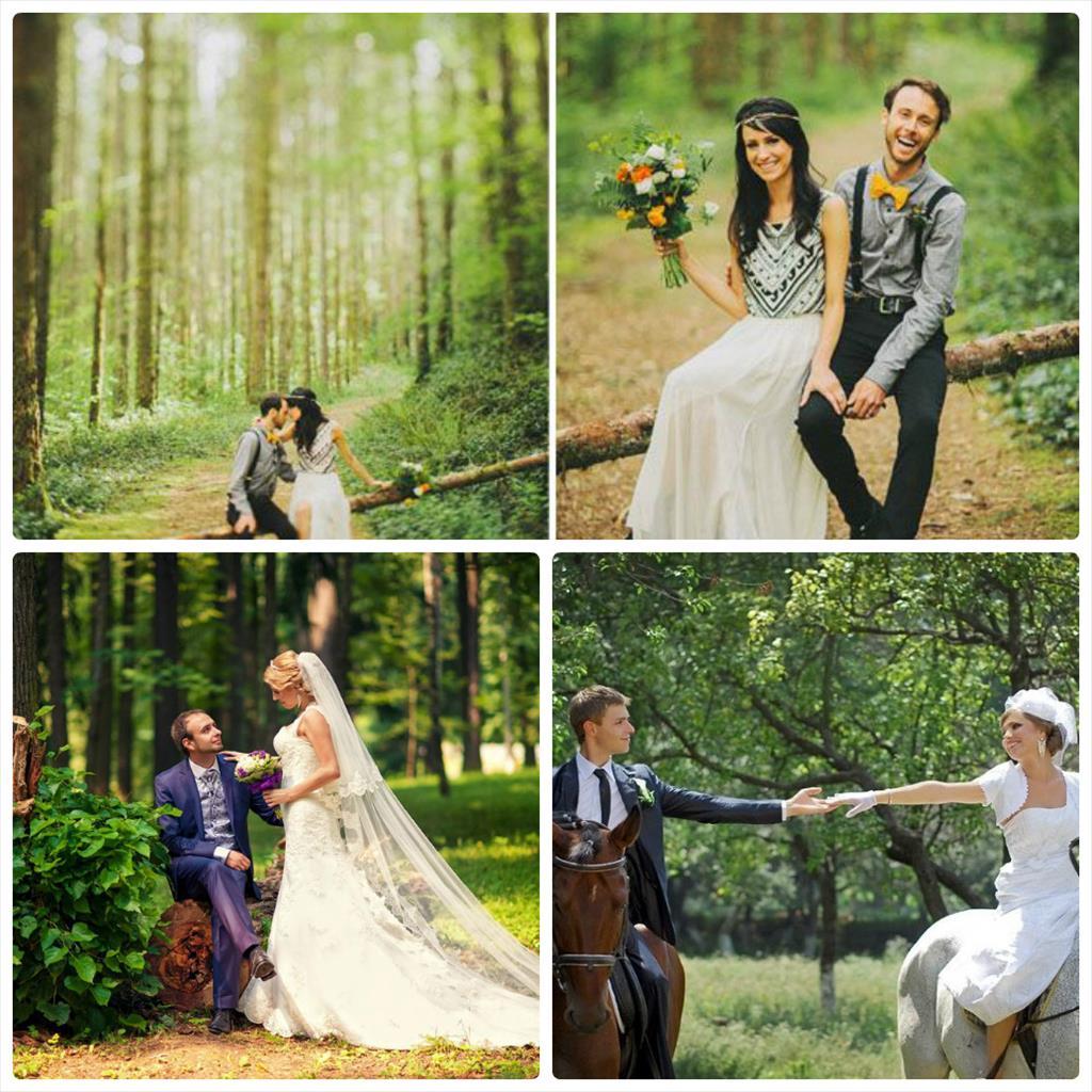 свадебная фотосессия на природе летом идеи