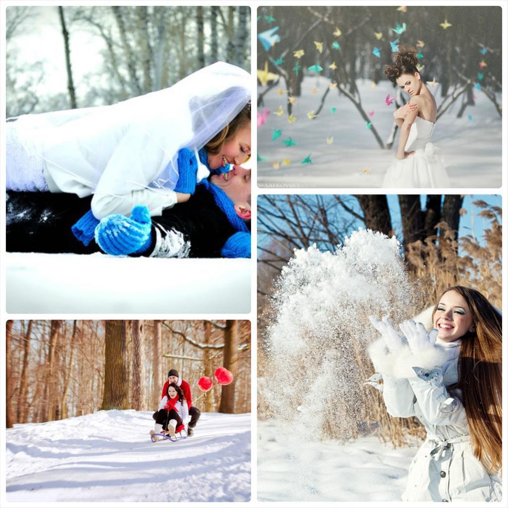 зимняя фотосессия для девушек идеи