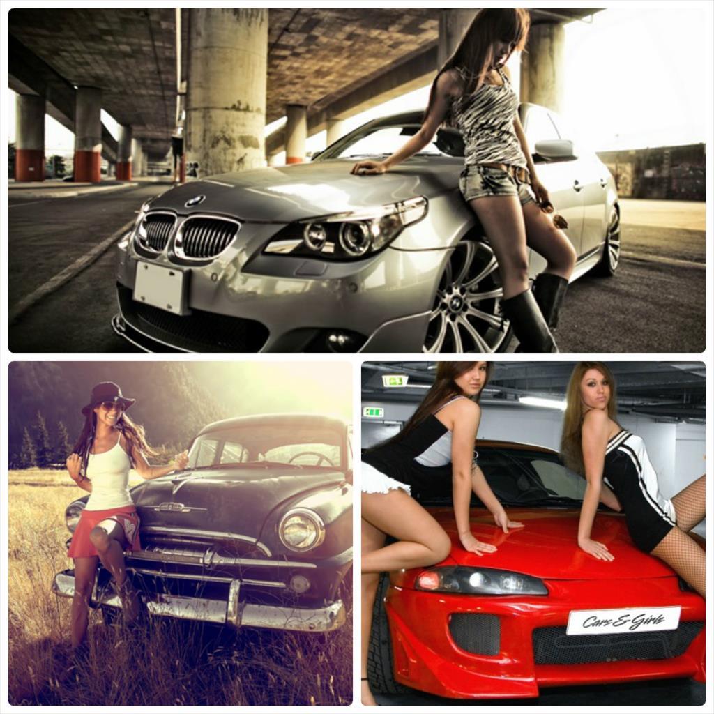 фотосессия в машине девушек