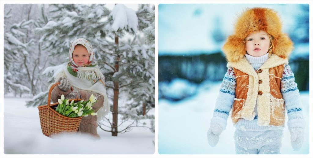 дети зимой фотосессия